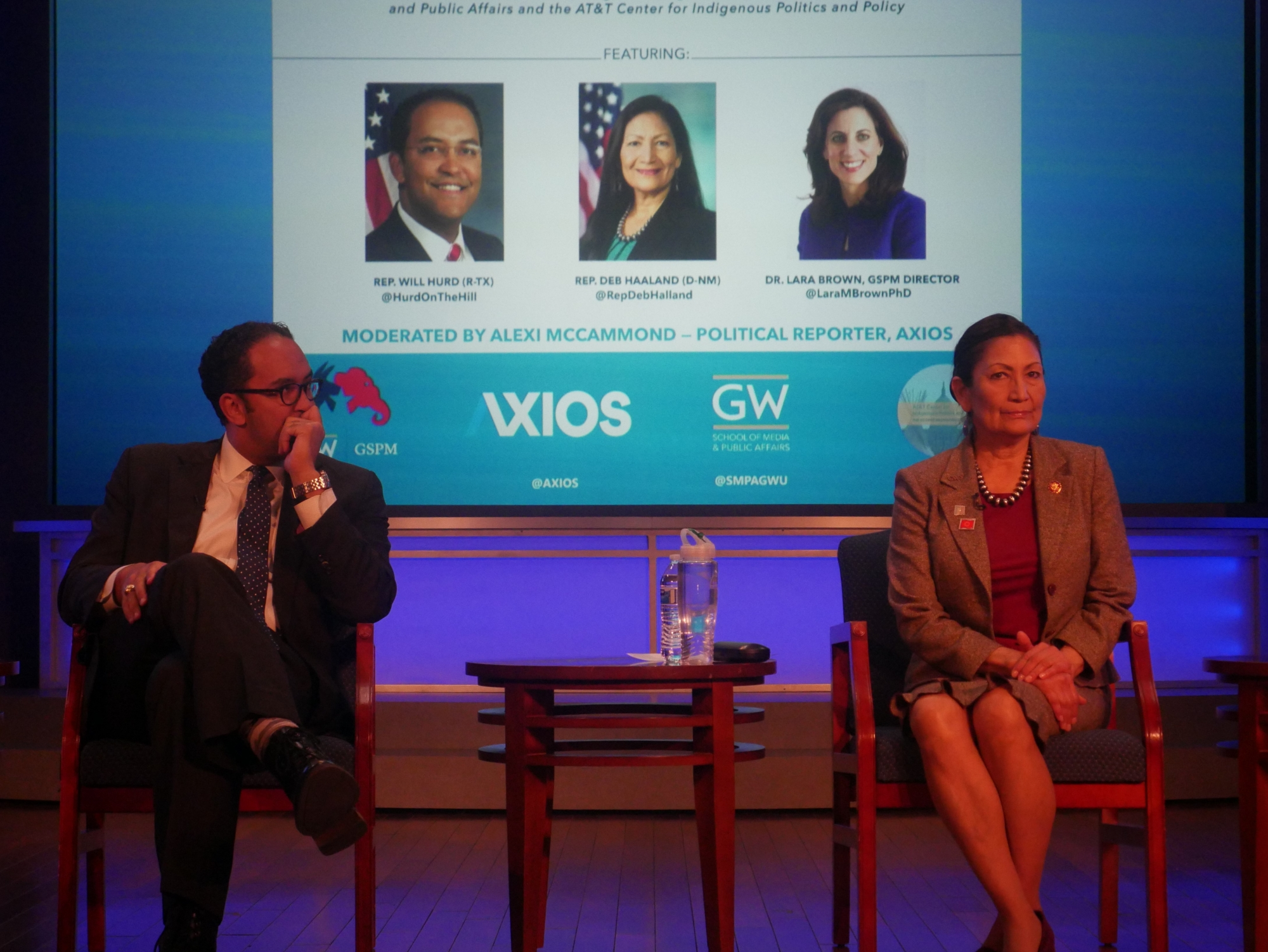 Rep. Will Hurd and Rep. Deb Haaland during opening remarks