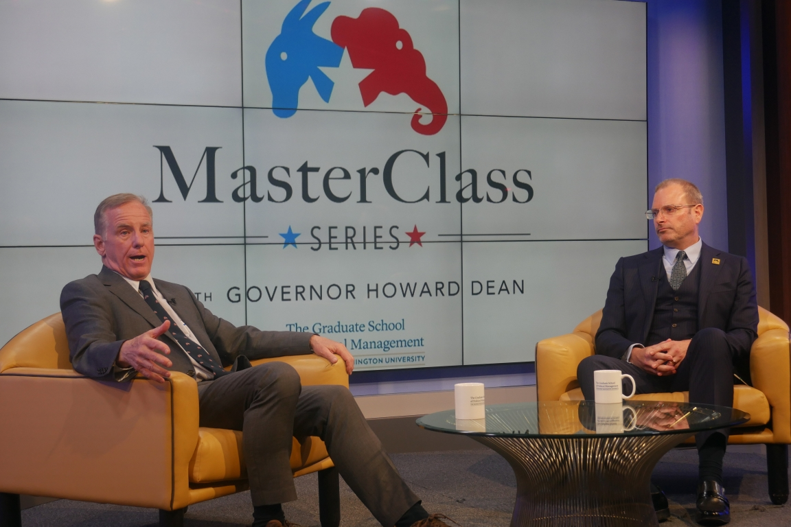 Howard Dean and Todd Belt MasterClass